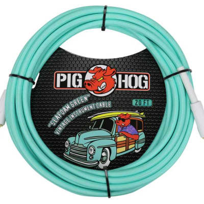"Pig Hog ""Seafoam Green"" Instrument Cable - 20' w FREE SAME DAY SHIPPING"