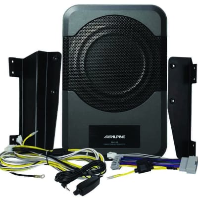 "Alpine PWE-S8-WRA Restyle 8"" Amplified Custom Fit for 2011-up Jeep Wrangler (4 door) - Under Seat Pl"