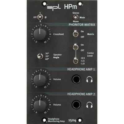 SPL HPm Dual Headphone Monitoring Amplifier 500-Series Module 1504