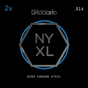 D'Addario NYXL  2-Pack Plain Steel Guitar Strings .014