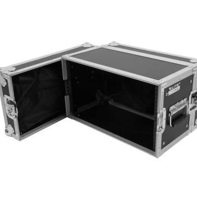 "Elite Core 6 Space 6 U ATA Rack Flight Case w/ Zipper Pouch Storage 19"" Wide"