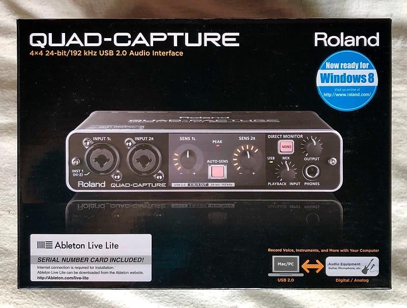 roland ua 55 quad capture usb 2 0 audio interface microphone reverb. Black Bedroom Furniture Sets. Home Design Ideas