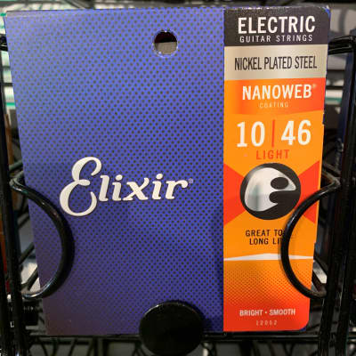 Elixir 12052 Nanoweb Nickel Plated Steel Electric Guitar Strings - Light (10-46)