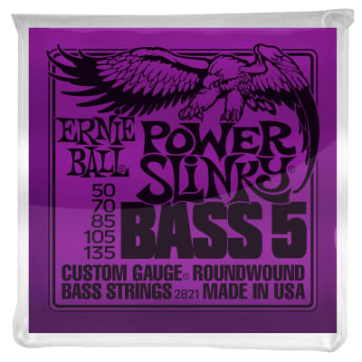 POWER SLINKY 5-STRING NICKEL WOUND ELECTRIC BASS STRINGS