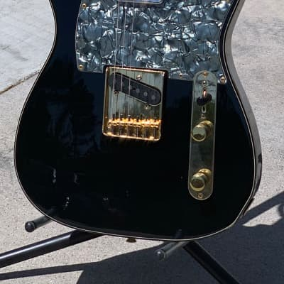 Fender Telecaster Custom 50th Anniversary MIJ 1995 Black/Gold for sale