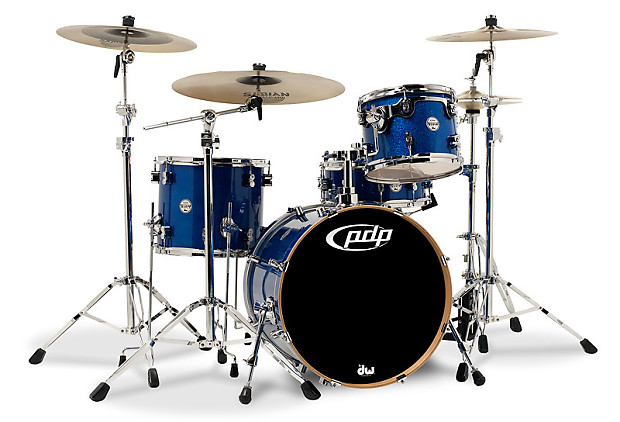 Concept maple by dw blue sparkle chrome hw 4 pcs 16x20 for 16 x 12 floor tom