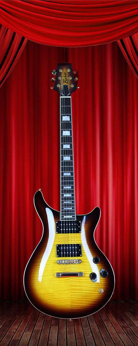 baker electric guitar b1 sunburst 6 string reverb. Black Bedroom Furniture Sets. Home Design Ideas