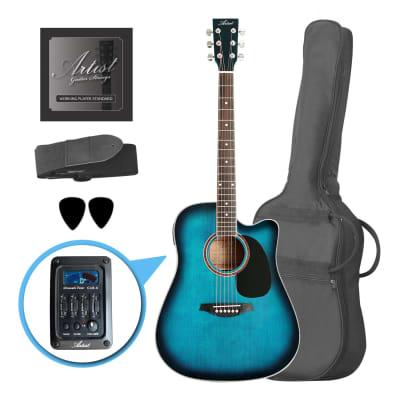 Artist LSPCEQTBB Beginner Electro-Acoustic Guitar Pack - Blue for sale