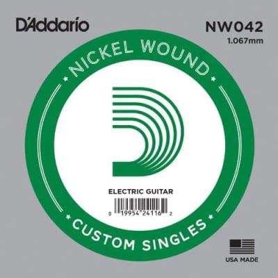 D'Addario .042 Nickel Wound Single String