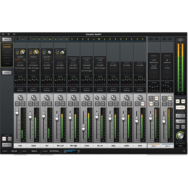 universal audio apollo firewire with real time uad processing reverb. Black Bedroom Furniture Sets. Home Design Ideas