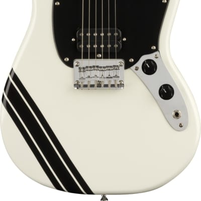 Fender Squier FSR Bullet Mustang Competition HH in Arctic White for sale