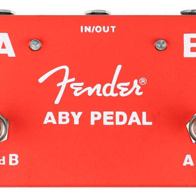 Fender 2 Footswitch ABY Pedal Red for sale