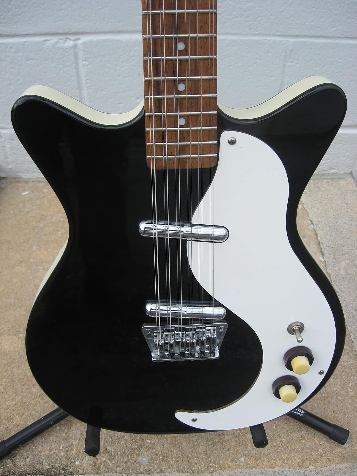 danelectro dc12 12 string 00 39 s black guitar with gig bag reverb. Black Bedroom Furniture Sets. Home Design Ideas
