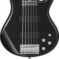Ibanez Gio 200 Series 6 Strg Bass, Gloss Black for sale