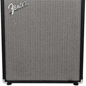 Fender RumbleTM 100 (V3) Bass Amp Combo, Black/Silver