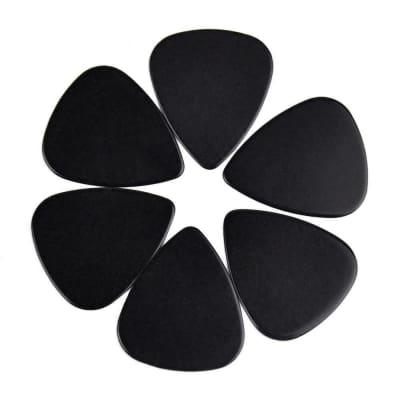 Celluloid Black Guitar Or Bass Pick - 0.71 mm Medium Gauge - 351 Shape - 6 Pack New