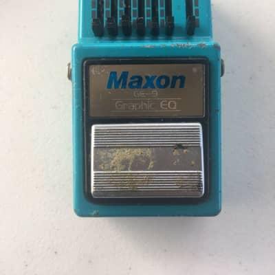 Maxon GE9 Graphic Equalizer EQ Rare Vintage 1982 Guitar Effect Pedal for sale