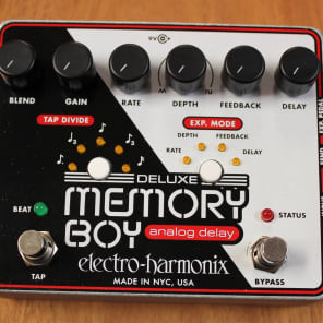 Electro Harmonix Deluxe Memory Boy Analog Delay w/Tap Tempo Guitar Effects Pedal for sale