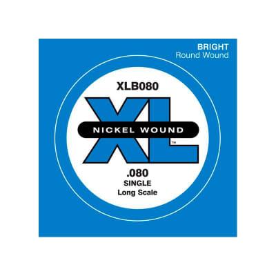 D'Addario Nickel Wound Single Bass String XLB 080