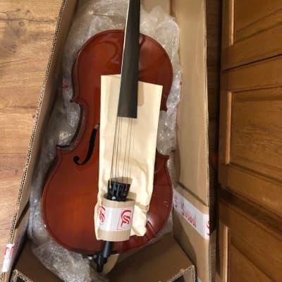 Strunal Cello Model 40/4 1/8 size with Bridge - New - Open Box for sale