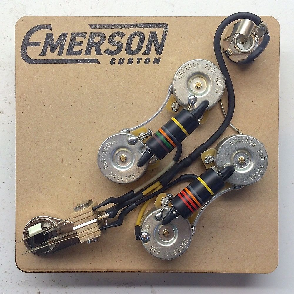 Emerson Les Paul Wiring Harness : Emerson custom prewired sg wiring harness reverb