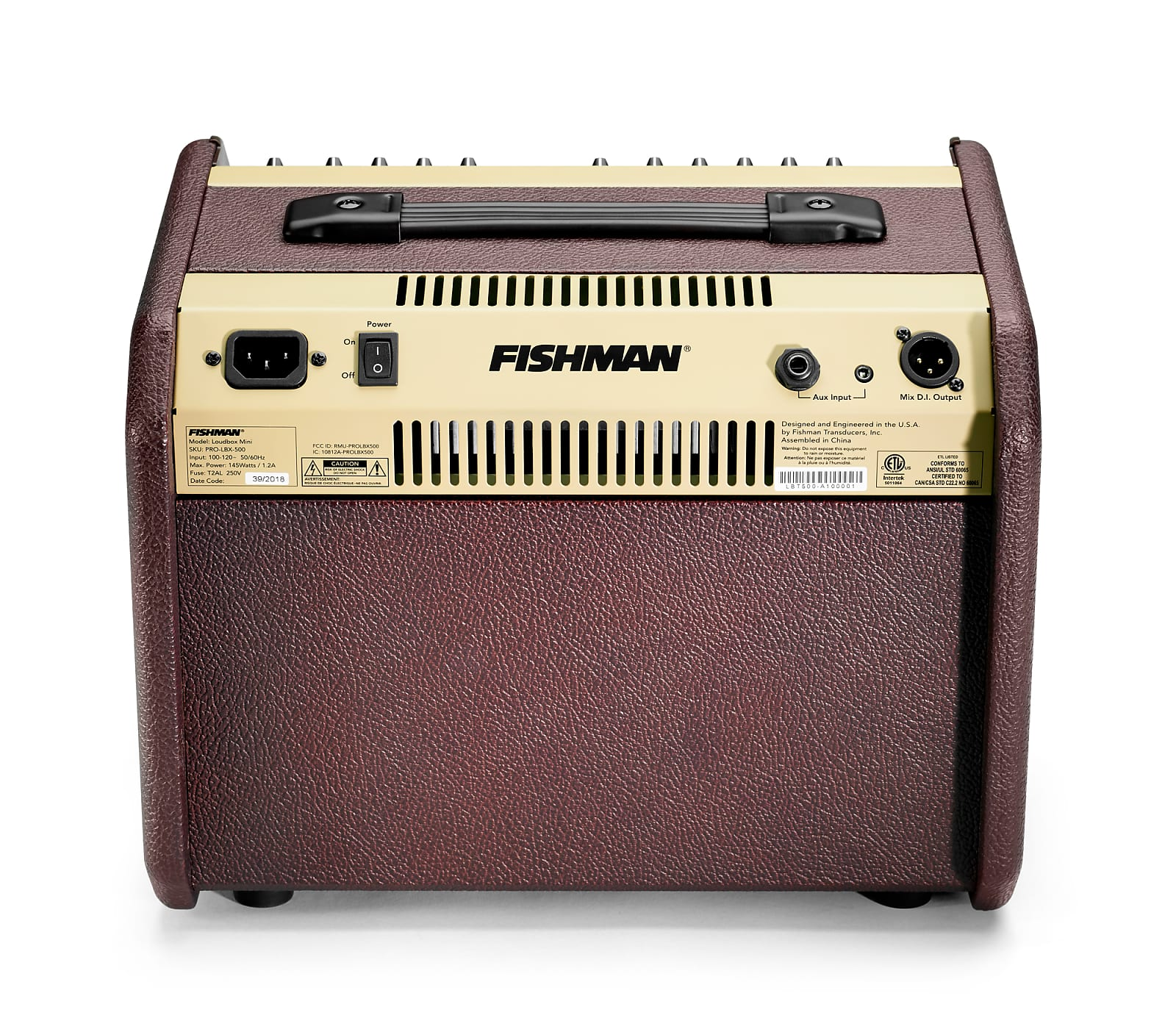 Fishman PRO-LBT-500 Loudbox Mini 60W 1x6.5'' 2-Channel Acoustic Combo Amplifier w/ Bluetooth