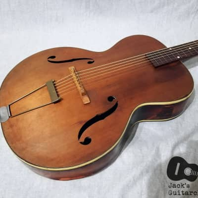 Marwin Deluxe Archtop Acoustic Jazz Guitar (1940s, Natural / CherryBurst) for sale