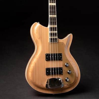 Rivolta COMBINATA BASS VII Chambered Mahogany Body Set Maple Neck 4-String Bass Guitar w/Soft Case for sale