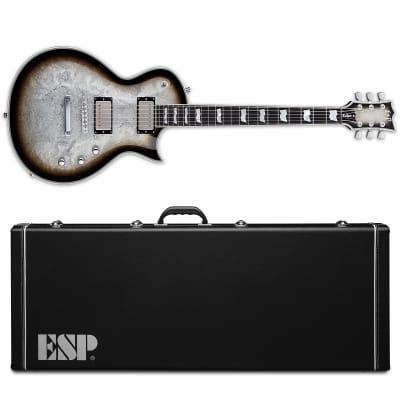ESP Eclipse Custom Silver Liquid Metal Burst Electric Guitar + Hard Case MIJ for sale