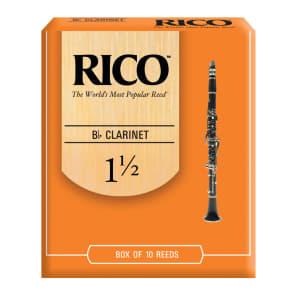 Rico RCA1015 Bb Clarinet Reeds - Strength 1.5 (10-Pack)