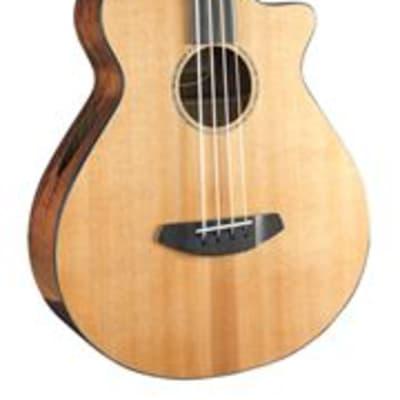 Breedlove Solo Jumbo Fretless Bass CE Acoustic Elec Red Cedar Ovangkol
