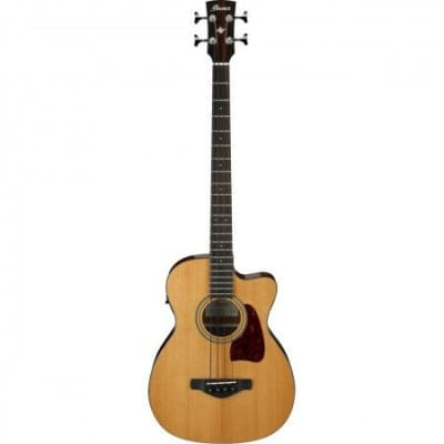 Ibanez AVCB9CE-NT Artwood Vintage Thermo Grand Concert 4 String RH Acoustic Electric Bass-Natural Hi for sale