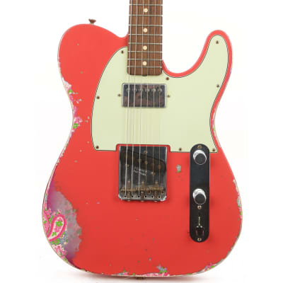 Fender Custom Shop Limited Edition '60s HS Telecaster Fiesta Red over Pink Paisley 2016 for sale