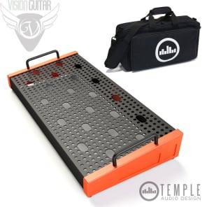 """Temple Audio Design Solo 18 (18"""" x 8.5"""") Pedalboard w/Soft Case - Temple Red"""