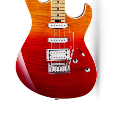 Cort G280DX JSS G Series Double Cutaway Flame Maple Top HSS w/ 2-Point Tremolo Java Sunset, New for sale