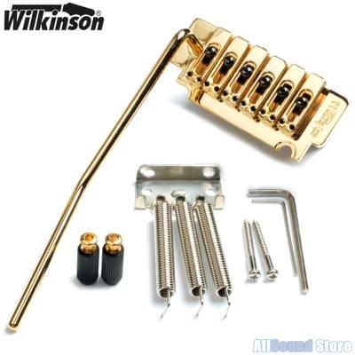 WILKINSON WVS50K Tremolo Bridge for Stratocaster® Strat Classic Style Knife Edge GOLD