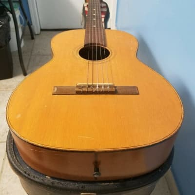 Vintage 1950's Tranquillo Giannini Classical Model 518 Acoustic Guitar & Case for sale