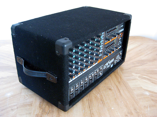 Yamaha emx660 powered mixer 2 x 300w stereo amps reverb for Yamaha power amp mixer