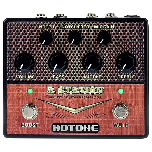 HOTONE A STATION Guitar Acoustic Preamp Stompbox   Reverb