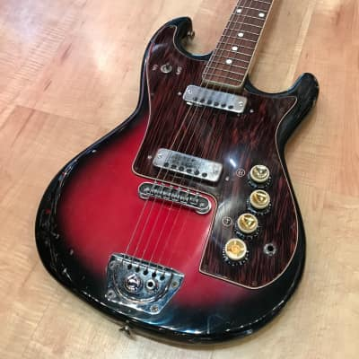 Zero Sette Atlas Electric Guitar 1965 Red Sunburst for sale
