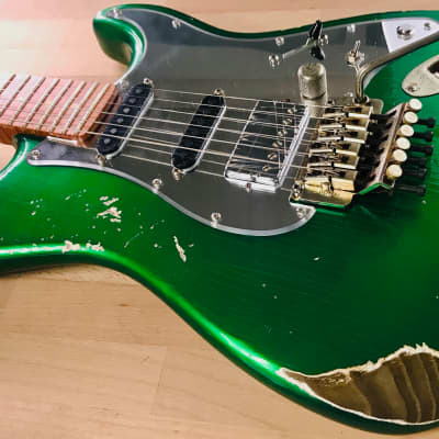 "S71 SUPER""S"" CANDY GREEN Heavy-Relic Custom Shop, J-ONE SIGNATURE model"