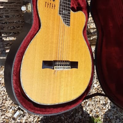 Kirk Sand Nylon Guitar 1997 97 Custom Shop Masterbuilt Signed With Rmc Poly-drive  Preamp Mahogany Abalon Europe Shipping for sale
