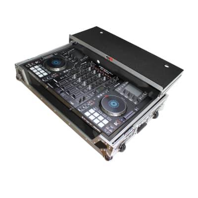 Flight Case for Denon MCX8000 Digital Controller W-Wheels and Laptop Shelf