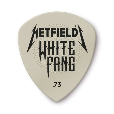 Dunlop PH122T073 James Hetfield White Fang Custom Flow .73mm Guitar Pick Tin (6-Pack)