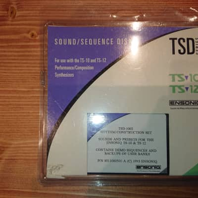Ensoniq TSD-1002  TS-10 TS-12 floppy disks sound library