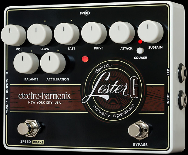 electro harmonix lester g deluxe rotary speaker pedal reverb. Black Bedroom Furniture Sets. Home Design Ideas