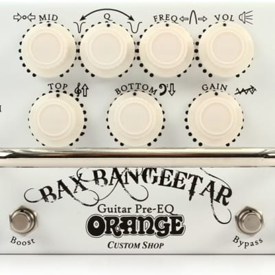 Orange Bax Bangeetar Guitar Pre-EQ Pedal - White