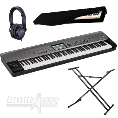 Korg Krome EX88 Workstation  + Double X Stand & Roland RH-5 Headphones & Dust Cover. CA's #1 Dealer!