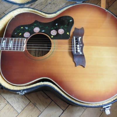 Best Version - Vintage Acoustic ( J200 Copy) from 1973 JAPAN! + OHSC + Pro Setup for sale
