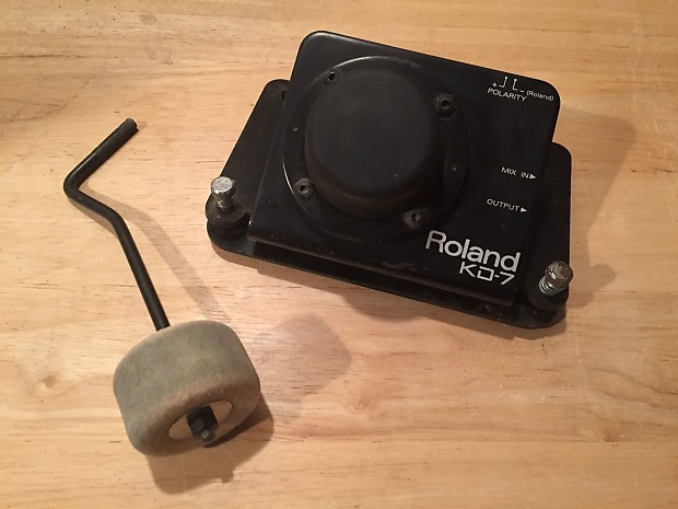 roland kd 7 electronic bass kick drum trigger with reverse reverb. Black Bedroom Furniture Sets. Home Design Ideas